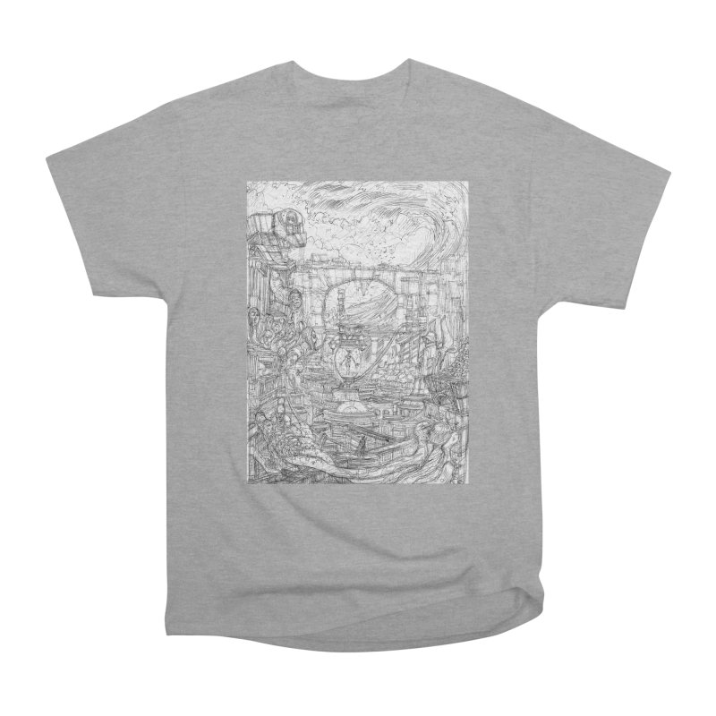 Enter The New Void || Pareidolia Drawing Women's Heavyweight Unisex T-Shirt by artistsjourney's Artist Shop