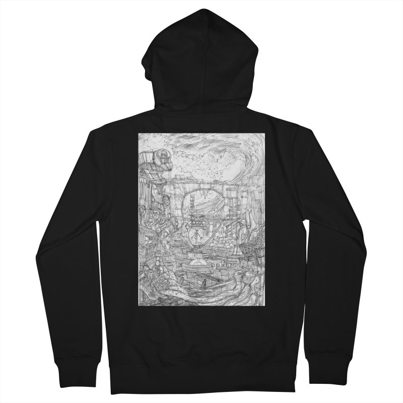 Enter The New Void || Pareidolia Drawing Women's French Terry Zip-Up Hoody by artistsjourney's Artist Shop