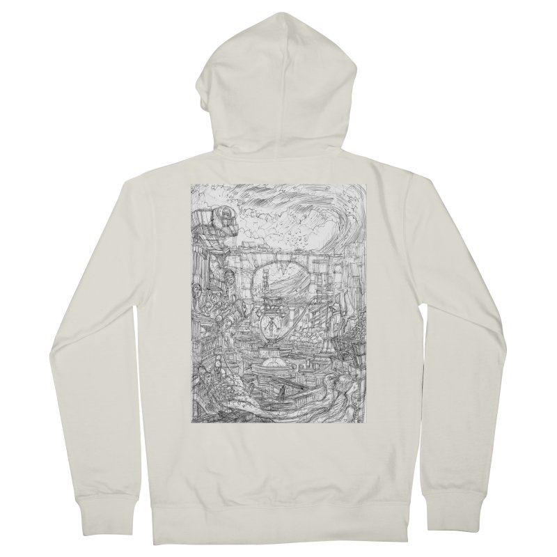 Enter The New Void    Pareidolia Drawing Women's French Terry Zip-Up Hoody by artistsjourney's Artist Shop