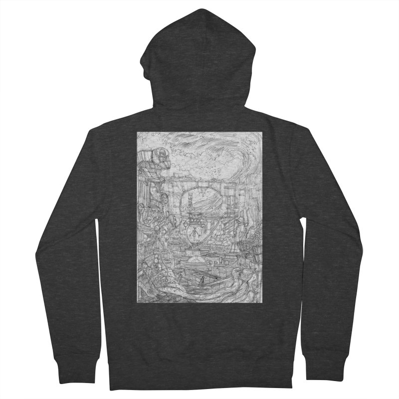 Enter The New Void || Pareidolia Drawing Men's French Terry Zip-Up Hoody by artistsjourney's Artist Shop