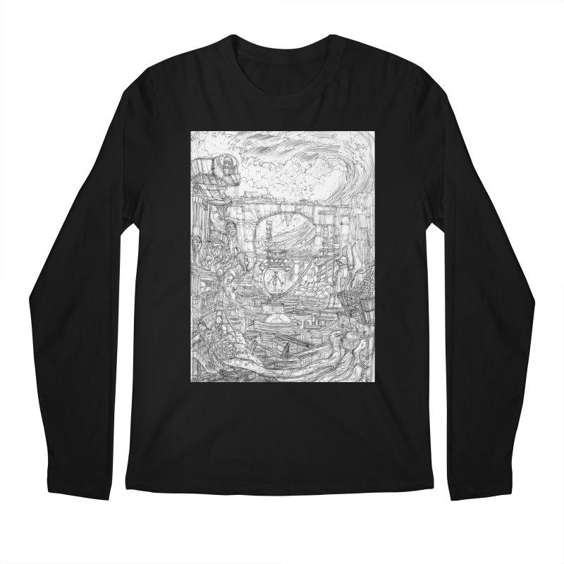 Enter The New Void || Pareidolia Drawing Men's Regular Longsleeve T-Shirt by artistsjourney's Artist Shop