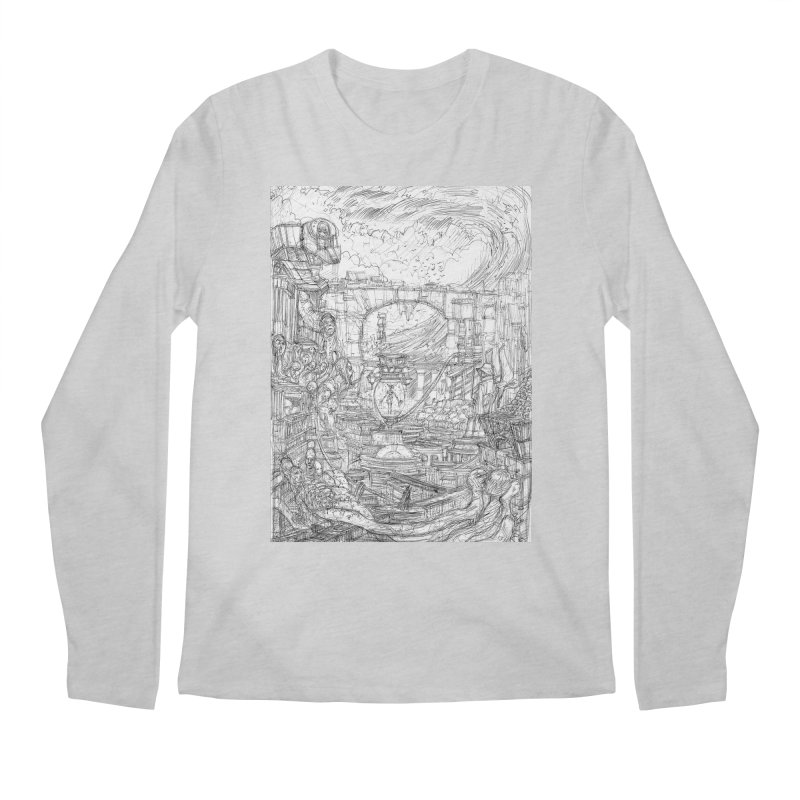 Enter The New Void || Pareidolia Drawing Men's Regular Longsleeve T-Shirt by artistsjourney's Artist Shop