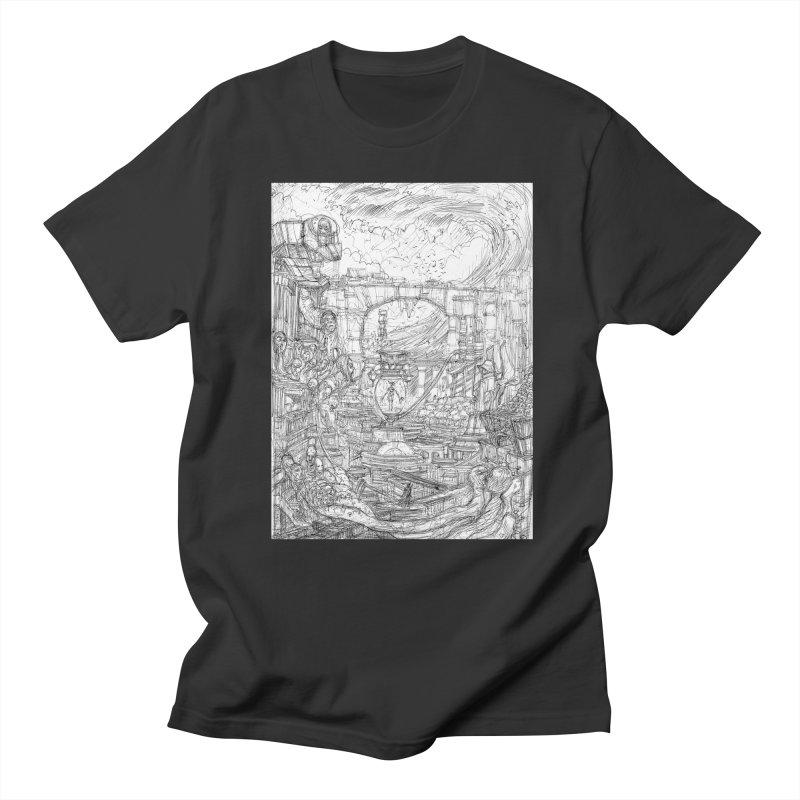 Enter The New Void || Pareidolia Drawing Men's Regular T-Shirt by artistsjourney's Artist Shop