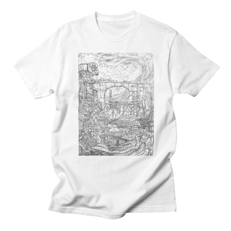 Enter The New Void || Pareidolia Drawing Men's Regular T-Shirt by artistsjourney's Artist Shop