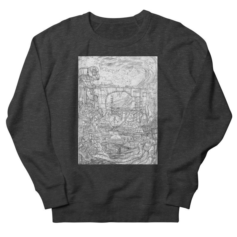 Enter The New Void || Pareidolia Drawing Women's French Terry Sweatshirt by artistsjourney's Artist Shop