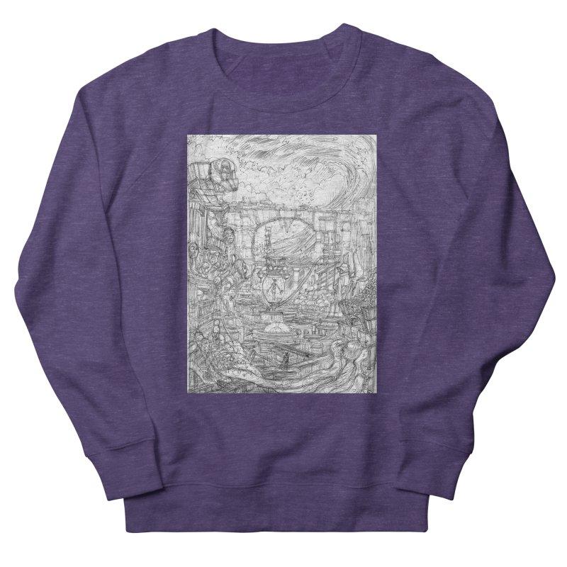 Enter The New Void || Pareidolia Drawing Women's French Terry Sweatshirt by artistsjourney's Artist Shop