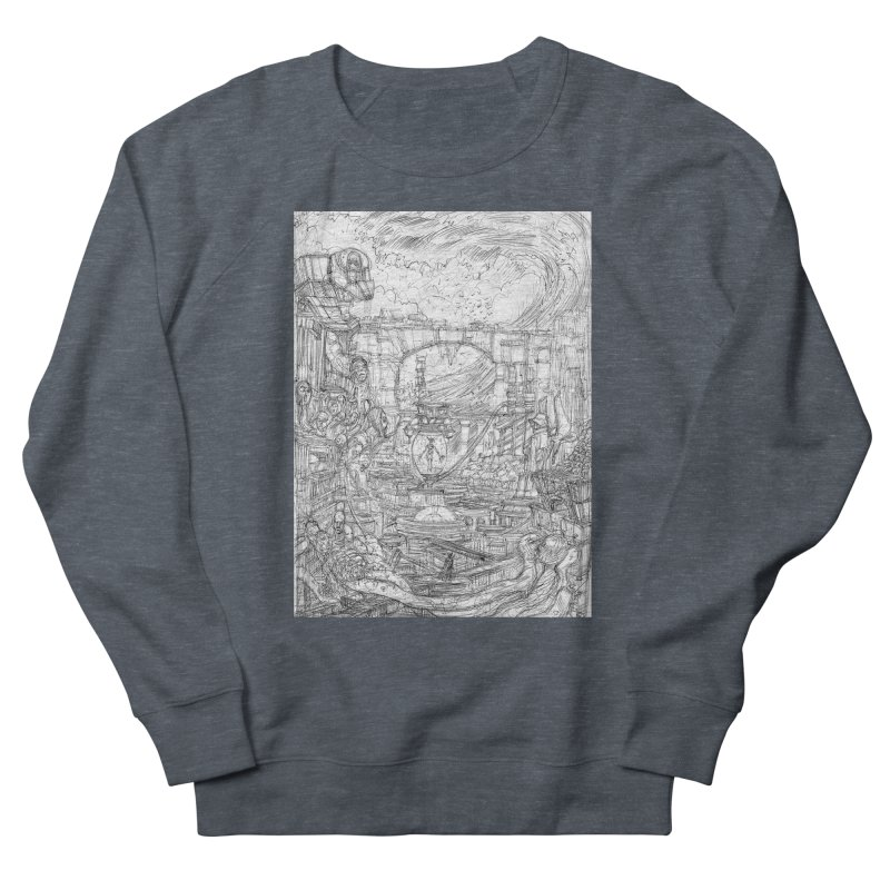 Enter The New Void || Pareidolia Drawing Men's French Terry Sweatshirt by artistsjourney's Artist Shop