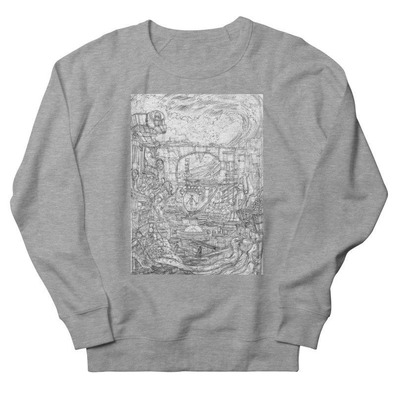 Enter The New Void || Pareidolia Drawing Men's French Terry Sweatshirt by artistsjourney's Artist Shop