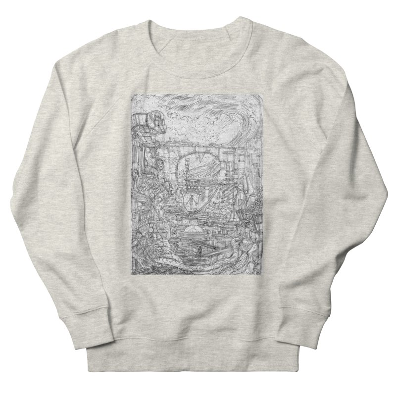 Enter The New Void || Pareidolia Drawing Men's Sweatshirt by artistsjourney's Artist Shop