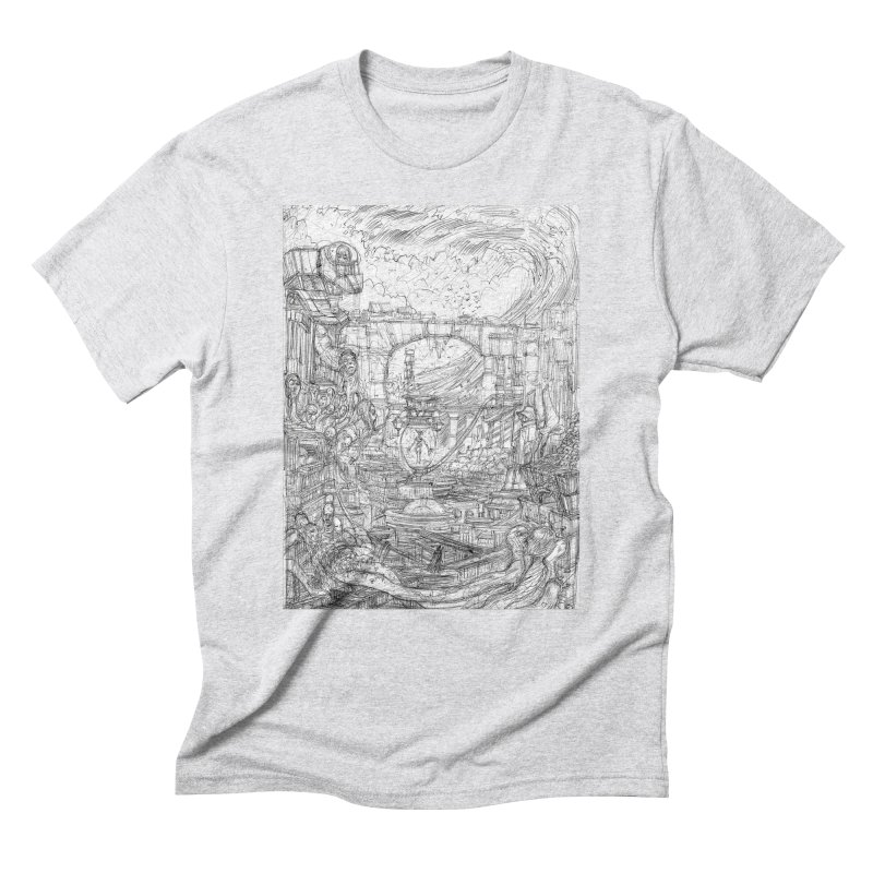 Enter The New Void || Pareidolia Drawing Men's Triblend T-Shirt by artistsjourney's Artist Shop