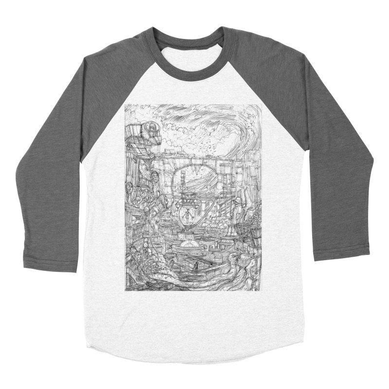 Enter The New Void || Pareidolia Drawing Women's Baseball Triblend Longsleeve T-Shirt by artistsjourney's Artist Shop