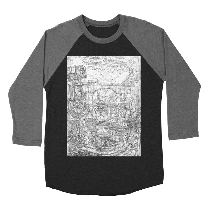 Enter The New Void || Pareidolia Drawing Women's Baseball Triblend Longsleeve T-Shirt by artistsjourney's Artist Shop