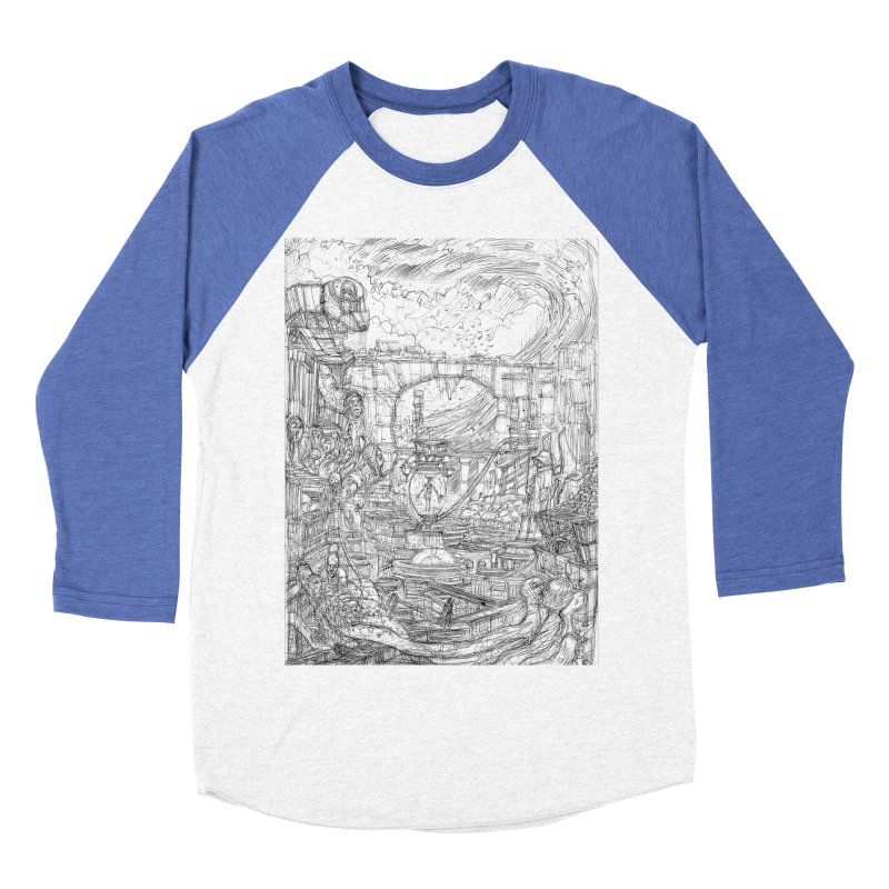 Enter The New Void || Pareidolia Drawing Men's Baseball Triblend Longsleeve T-Shirt by artistsjourney's Artist Shop