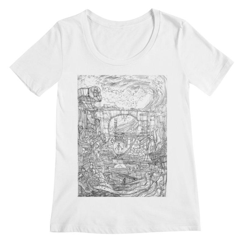 Enter The New Void || Pareidolia Drawing Women's Regular Scoop Neck by artistsjourney's Artist Shop