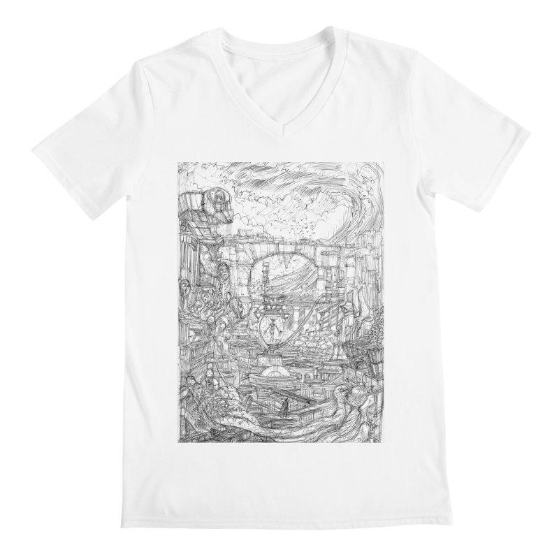 Enter The New Void || Pareidolia Drawing Men's Regular V-Neck by artistsjourney's Artist Shop
