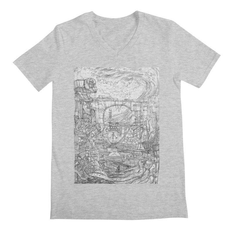 Enter The New Void || Pareidolia Drawing Men's Regular V-Neck by artistsjourney's Artist Shop