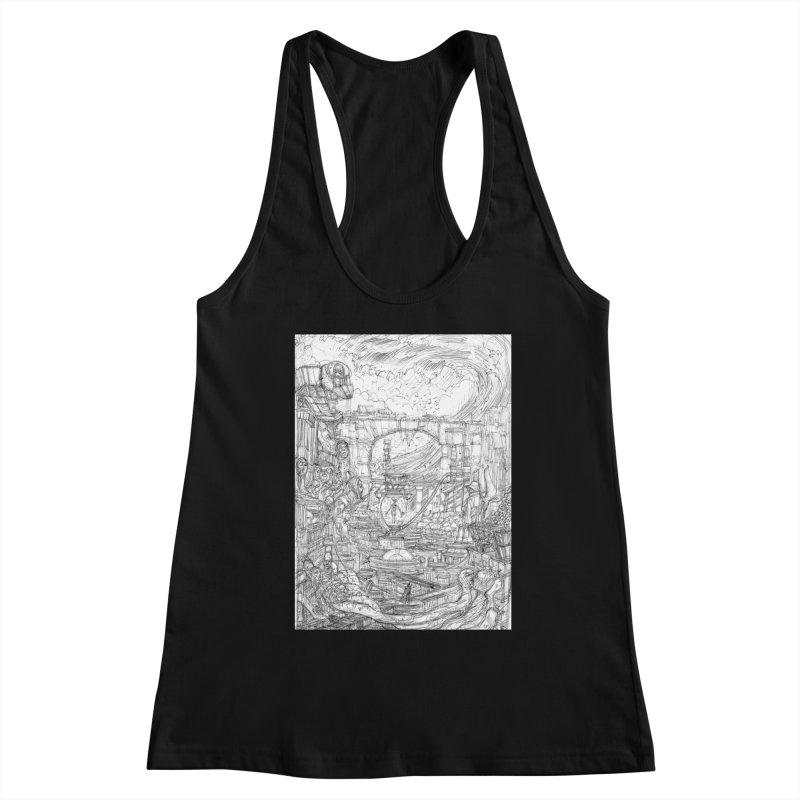 Enter The New Void || Pareidolia Drawing Women's Tank by artistsjourney's Artist Shop