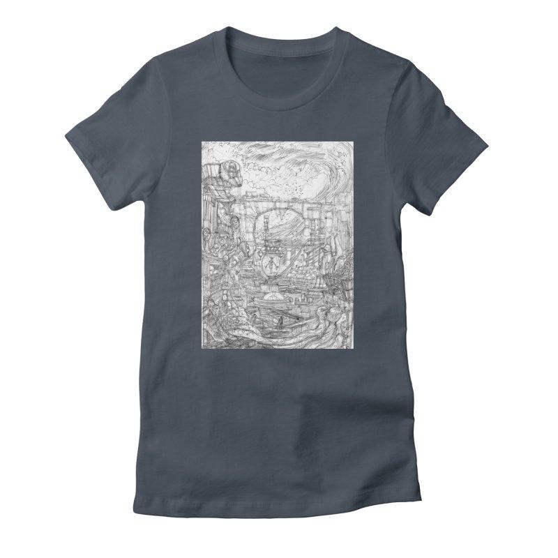 Enter The New Void || Pareidolia Drawing Women's T-Shirt by artistsjourney's Artist Shop