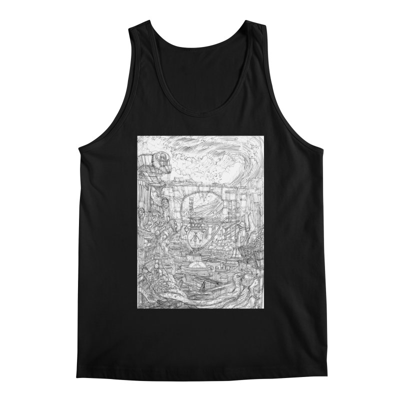 Enter The New Void || Pareidolia Drawing Men's Regular Tank by artistsjourney's Artist Shop