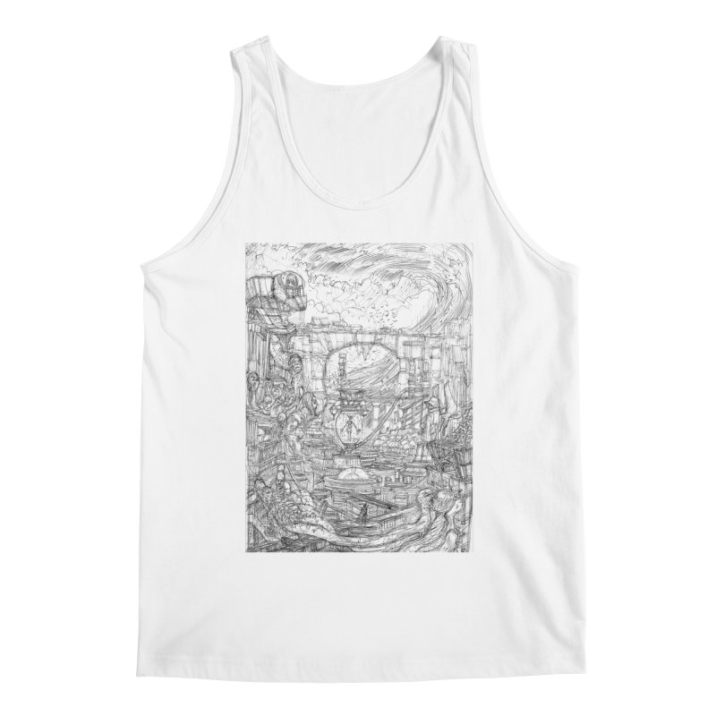 Enter The New Void || Pareidolia Drawing Men's Tank by artistsjourney's Artist Shop