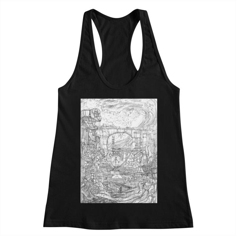 Enter The New Void || Pareidolia Drawing Women's Racerback Tank by artistsjourney's Artist Shop