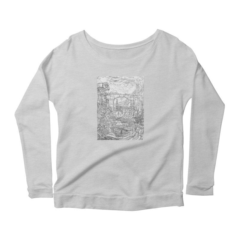 Enter The New Void || Pareidolia Drawing Women's Scoop Neck Longsleeve T-Shirt by artistsjourney's Artist Shop