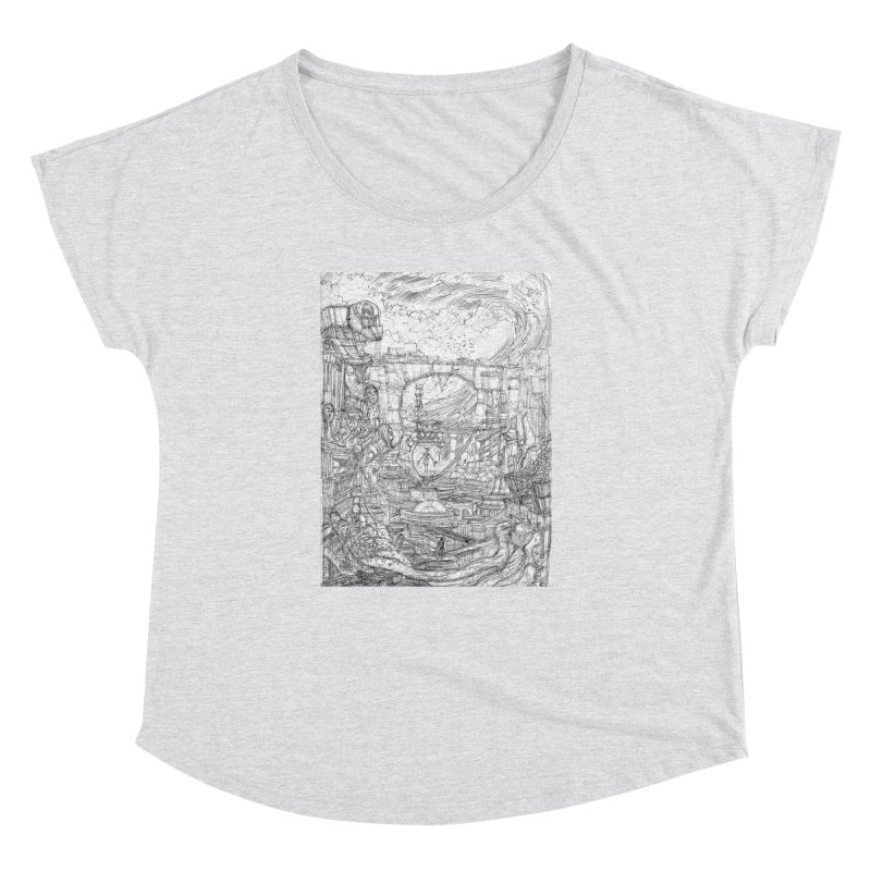 Enter The New Void || Pareidolia Drawing Women's Dolman Scoop Neck by artistsjourney's Artist Shop