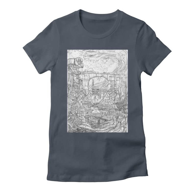 Enter The New Void || Pareidolia Drawing Women's T-Shirt by artistsjourney's Artist Shop