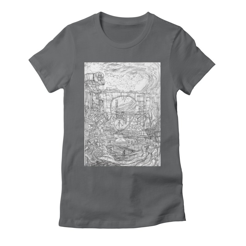Enter The New Void || Pareidolia Drawing Women's Fitted T-Shirt by artistsjourney's Artist Shop