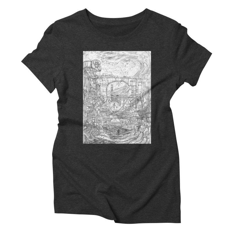 Enter The New Void || Pareidolia Drawing Women's Triblend T-Shirt by artistsjourney's Artist Shop