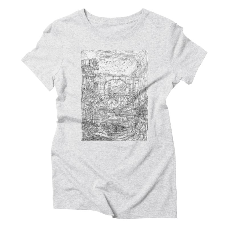 Enter The New Void || Pareidolia Drawing Women's Triblend T-Shirt by artistsjourney's Artist Shop