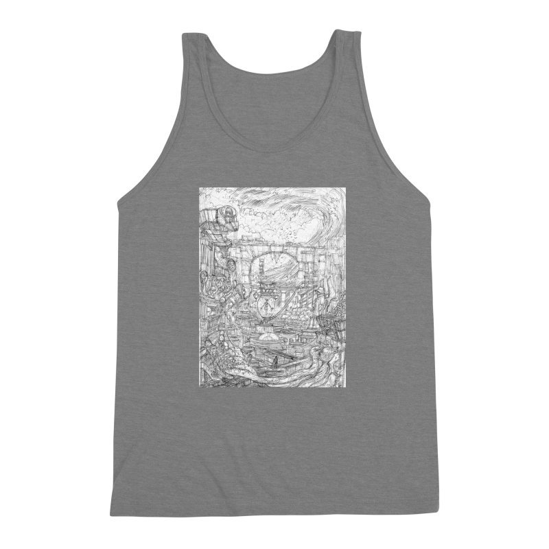 Enter The New Void || Pareidolia Drawing Men's Triblend Tank by artistsjourney's Artist Shop