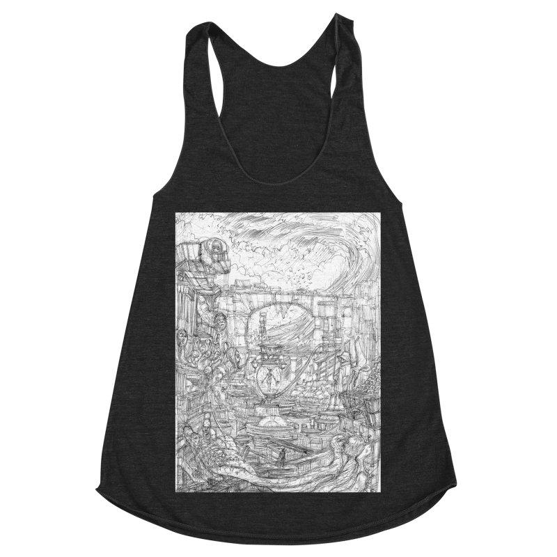 Enter The New Void || Pareidolia Drawing Women's Racerback Triblend Tank by artistsjourney's Artist Shop