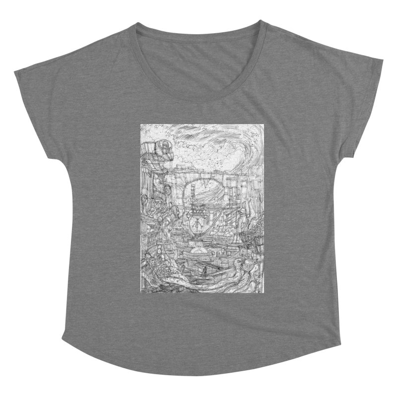 Enter The New Void || Pareidolia Drawing Women's Scoop Neck by artistsjourney's Artist Shop