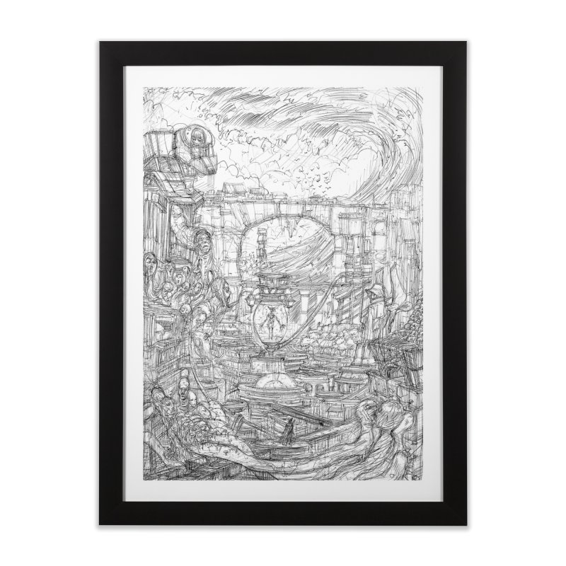 Enter The New Void || Pareidolia Drawing Home Framed Fine Art Print by artistsjourney's Artist Shop