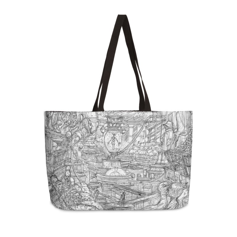 Enter The New Void || Pareidolia Drawing Accessories Weekender Bag Bag by artistsjourney's Artist Shop