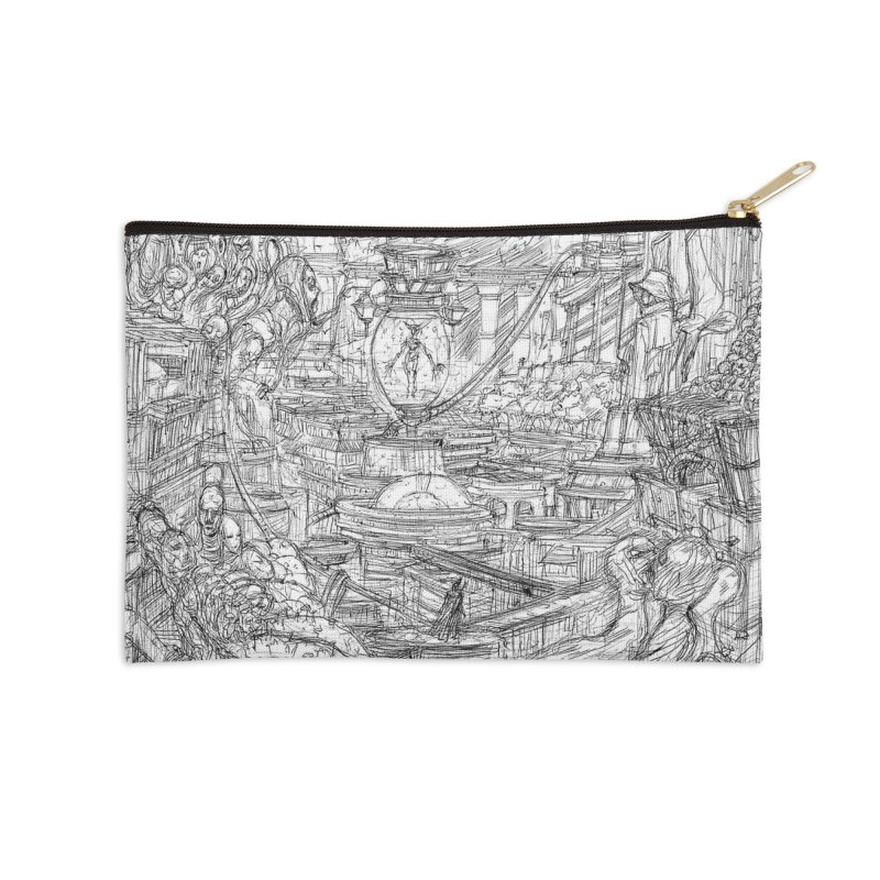 Enter The New Void || Pareidolia Drawing Accessories Zip Pouch by artistsjourney's Artist Shop