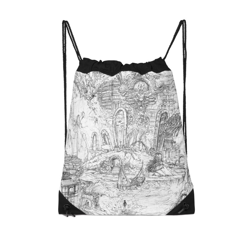 Portals of the Dreamscape || Pareidolia Drawing Accessories Drawstring Bag Bag by artistsjourney's Artist Shop