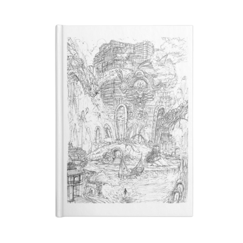 Portals of the Dreamscape || Pareidolia Drawing Accessories Lined Journal Notebook by artistsjourney's Artist Shop