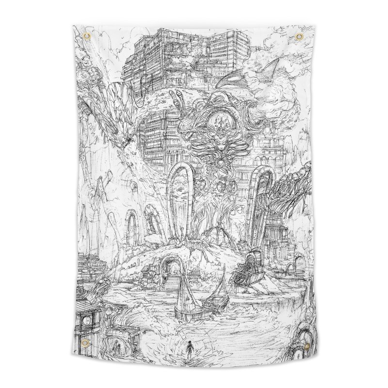 Portals of the Dreamscape    Pareidolia Drawing Home Tapestry by artistsjourney's Artist Shop