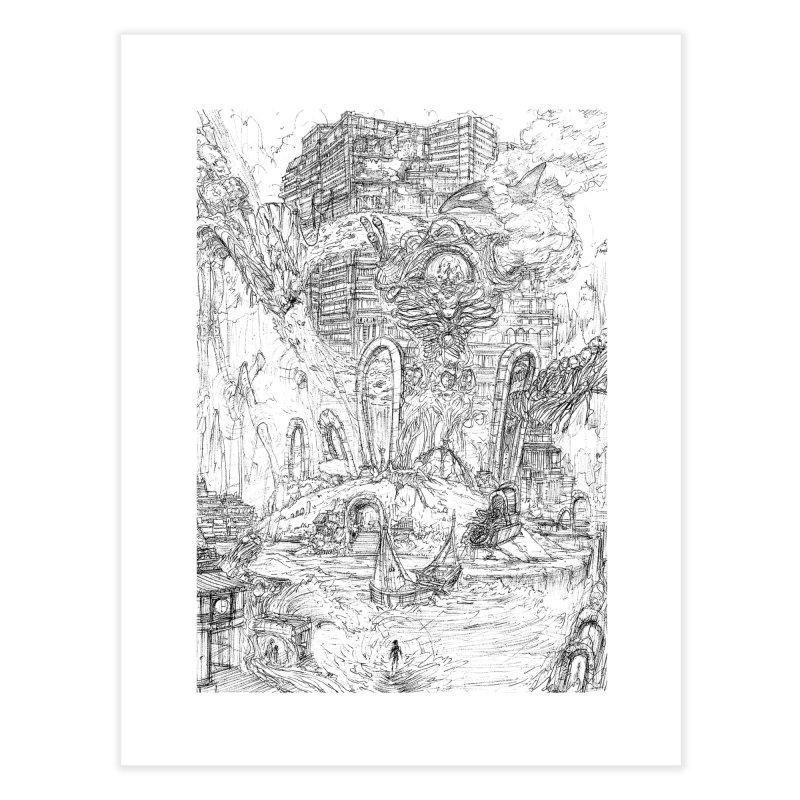 Portals of the Dreamscape || Pareidolia Drawing Home Fine Art Print by artistsjourney's Artist Shop