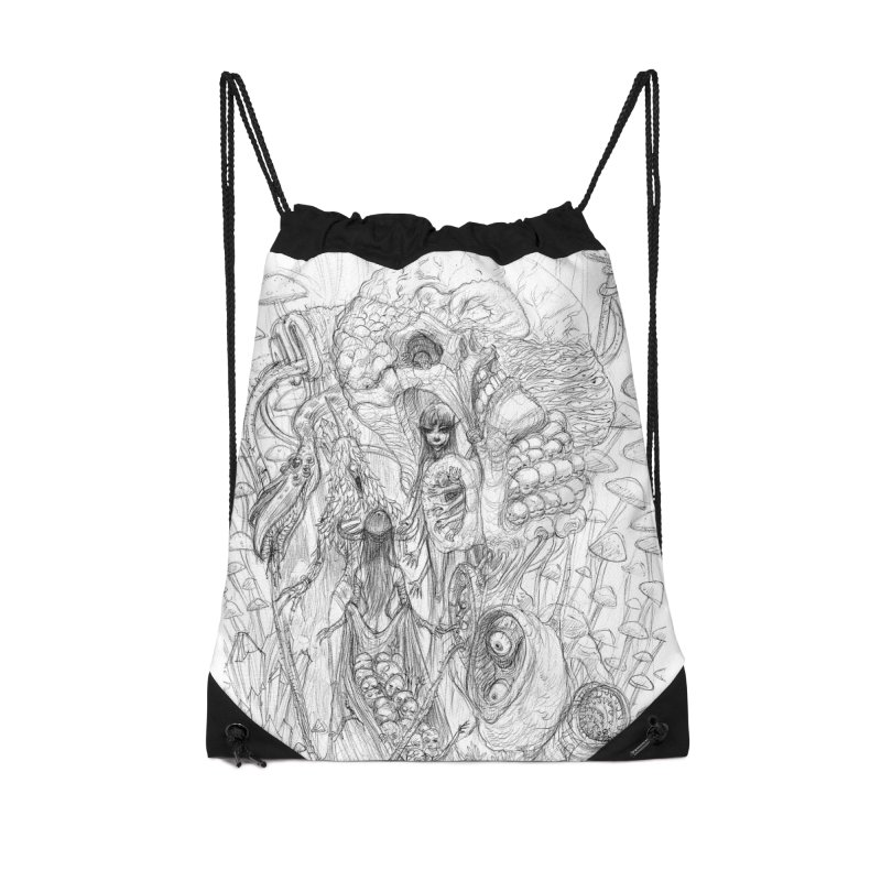 Ethereal Fatalities || Pareidolia Drawing Accessories Drawstring Bag Bag by artistsjourney's Artist Shop