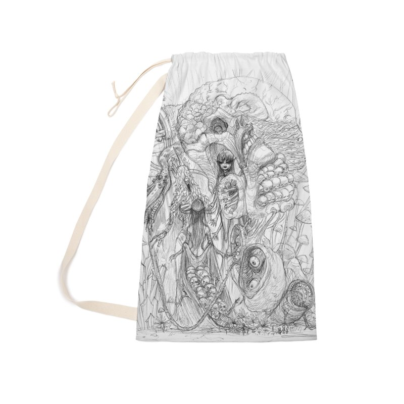 Ethereal Fatalities || Pareidolia Drawing Accessories Laundry Bag Bag by artistsjourney's Artist Shop