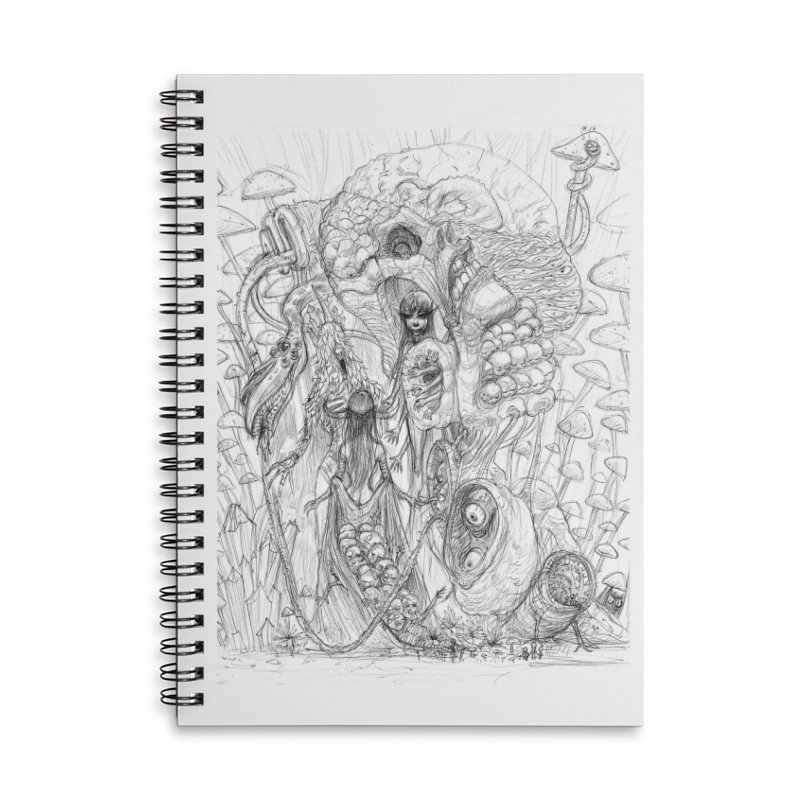 Ethereal Fatalities || Pareidolia Drawing Accessories Lined Spiral Notebook by artistsjourney's Artist Shop
