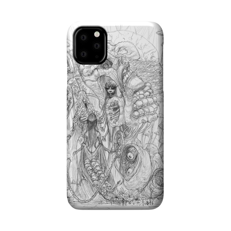 Ethereal Fatalities    Pareidolia Drawing Accessories Phone Case by artistsjourney's Artist Shop