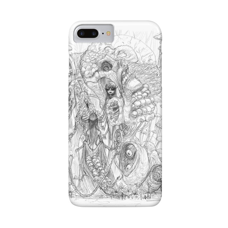 Ethereal Fatalities || Pareidolia Drawing Accessories Phone Case by artistsjourney's Artist Shop