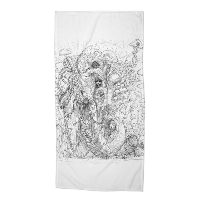 Ethereal Fatalities || Pareidolia Drawing Accessories Beach Towel by artistsjourney's Artist Shop