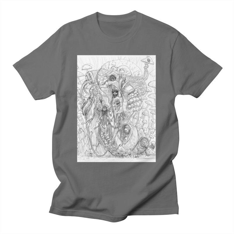 Ethereal Fatalities    Pareidolia Drawing Men's T-Shirt by artistsjourney's Artist Shop