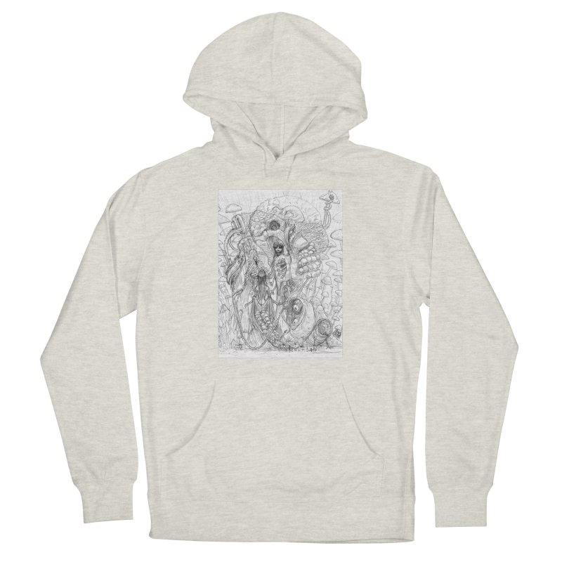 Ethereal Fatalities || Pareidolia Drawing Men's French Terry Pullover Hoody by artistsjourney's Artist Shop