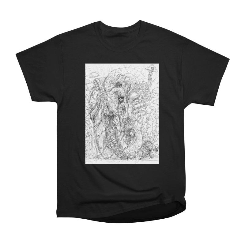 Ethereal Fatalities || Pareidolia Drawing Men's Heavyweight T-Shirt by artistsjourney's Artist Shop